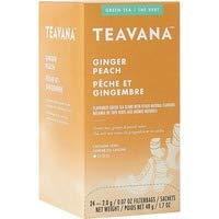 Teavana Ginger Peach Green Tea, 0.07 Oz, Box of 24 Tea Bags