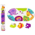 Kushies Baby 4 Piece Bath Mat and Squirter Set, Jungle