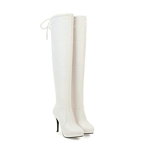 HOESCZS 2019 Westrn Stil Frauen Overknee Hohe Stiefel Mode Dünne Ferse Reißverschluss Plattform Spitz Frauen Stiefel Größe 34-43
