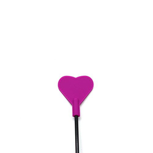 Scarlet Kitten Silicone Riding Crop Horse Whip Spanking with Slapper Heart Shape Jump Bat (Lilac)