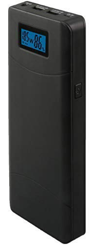 Compact Laptop Portable Power Bank Charger by GUGGHA (Black 15600mAh) (Portable Laptop Charger Toshiba)