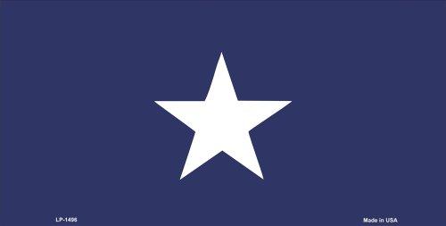 Bonnie Blue Flag Aluminum Automotive Novelty License Plate Tag