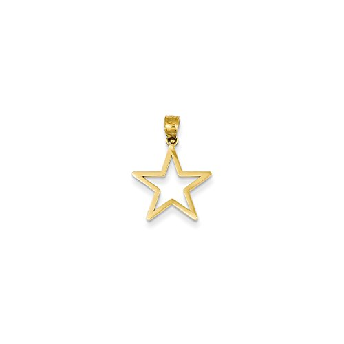 Roy Rose Jewelry 14K Yellow Gold Star Charm 14k Yellow Gold Star Charm