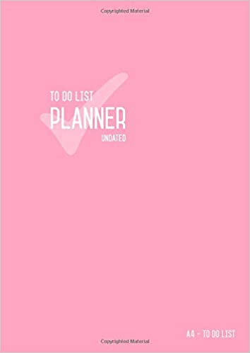 amazon to do list planner undated a4 large daily checklist