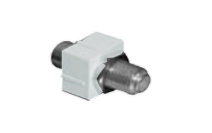 A0407001 - Belden MDVO Video F-type Module, Coaxial, White, Pack of ()