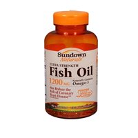 Sundown Naturals Fish Oil 1200 mg With Natural Omega-3 Softgels 90 Soft Gels (Pack of 4) by US Nutrition/Natures Bounty