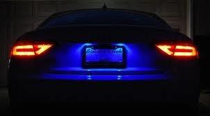 2 Piece Blue License Plate LED Bulbs T10 Wedge 5 SMD (2 Piece T10 Bulbs)