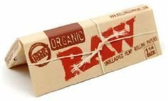 Raw Unrefined Organic 1.25 1 1/4 Size Cigarette Rolling Papers, 6 Packs (Best Rolling Papers Weed)