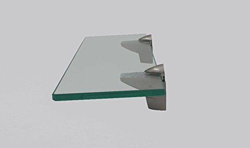 XVL 14-Inch Bathroom Glass Shelf, Brushed Nickel GS3004A-G well-wreapped