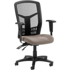 Lorell Executive Mesh High Back Swivel Office Chair in Stratus Brown