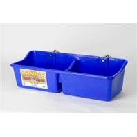 (Little Giant 24-Inch Dura-Flex Hook Over Portable Feeder with Divider and Brackets, 16-Quart, Blue)