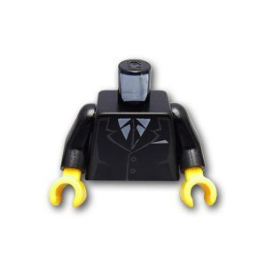 Lego block parts torso - black suit: [Black / Black] [parallel import goods] (Lego Suit)