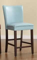 Homelegance 3276B-24 Bi-Cast Vinyl Parson Counter Height Chair (Set of 2), Sky Blue
