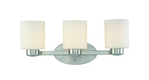 Dolan Designs 3433-09 3Lt Bath Satin Nickel Brookings 3 Light Bathroom Fixture ()