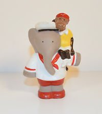 "1990 Arthur & Zephir Monkey 3.5"" Arby's PVC Action Figure Babar King Elephant Toy"