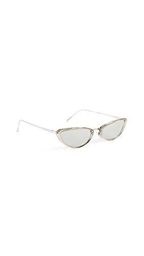 06fb378dec25 Linda Farrow Luxe Women s Platinum Extreme Cat Eye Sunglasses