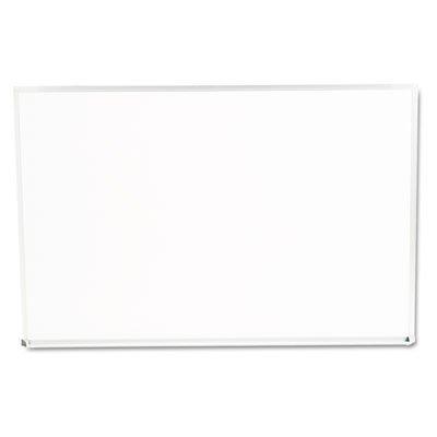 Universal Dry Erase Marker Board, Melamine, 96 x 48, Silver Aluminum Frame by Universal