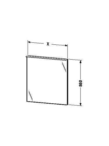 Duravit Spiegel mit Beleuchtung X-Large 36/105x600x860mm, LED, eiche gebürstet, XL729201212