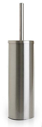 Brush Nickel Finish - BINO 'Mona' Toilet Brush & Holder with Removable Drip Cup, Brushed Nickel