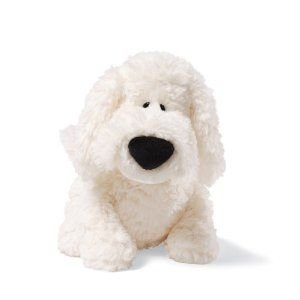 Amazon Com Gund Dust Mop White Dog 8 Plush Toys Games