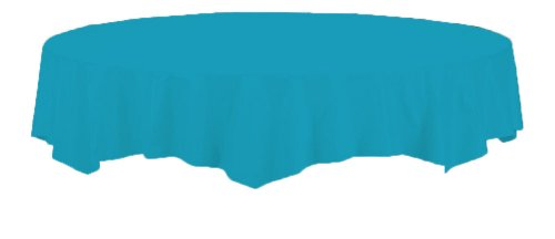 Creative Converting Octy-Round Plastic Table Cover, 82-Inch, Turquoise ()