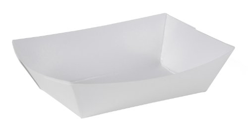 Southern Champion Tray 0550#25 Paperboard Food Tray/Boat / Bowl, 1/4 lb Capacity, White (Pack of 1000)