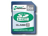 MicroMemory 8GB SDHC Card Class 10, N4298792N4298892 by MicroMemory