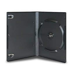100 Standard Black 6 Disc Stackable DVD Cases