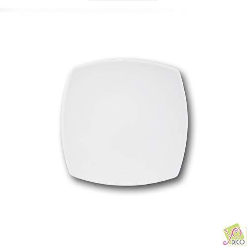 Tokio porcelana, 21 cm color blanco Plato de postre