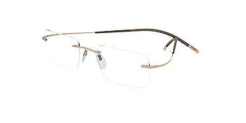 Silhouette TMA Icon 7577/20 Eyeglasses 6050 Gold - Icon Eyeglasses