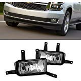 Remarkable Power FL7075 2015 2016 2017 Chevy Tahoe Suburban Pair Clear Bumper Lamps Fog Lights Only