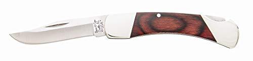Bear & Son 205R Rosewood Midsize Lockback Knife, 3 3/4-Inch
