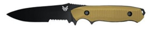 Benchmade ComboEdge BK1-Coated Nimravus Knife with FB Molle Sheath and Sand Camouflage Handle, Outdoor Stuffs