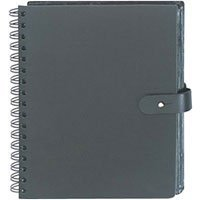 Prat Paris Pampa, Spiral Bound Photo Album, Solid Black Color Leather Covers, Holds 50 4