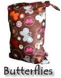 PUL Reusable/ Washable Baby Cloth Diaper/ Nappy Swim or Wet Bag - Butterfly