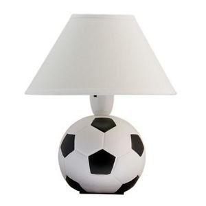 Black n white football bedside table lamp and white shade amazon black n white football bedside table lamp and white shade aloadofball Images