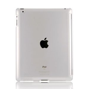 Transparent clear Hard Plastic Case Cover For Apple iPad 2
