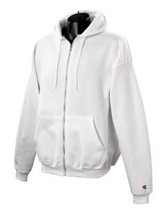 Champion C22C CH 50/50 Full Zip Hood Jacket - White - XXX-Large