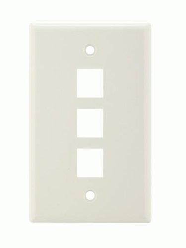 Keystone Style Wall Plate - 3 Ports (Ixos Audio Cable)