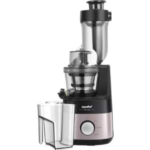 COMFEE' MJ-WJS2009PW2 COMFFE' BPA Free Slow Jucier with Ice Cream Maker Function. Masticating Juicer, Reverse, Rose Gold