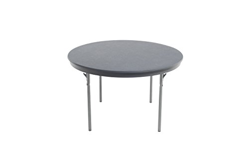 "AmTab - R42DL - Dynalite Featherweight Heavy-Duty ABS Plastic Folding Table, Round, 42"" Diameter x 29""H, Multiple Color Options Available"