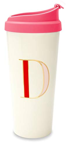 Kate Spade New York Women's Initial Thermal Mug D One Size (Acrylic Letter Dishes)