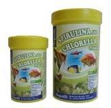 Comida para peces en escamas con espirulina y chrolella 250 ML.