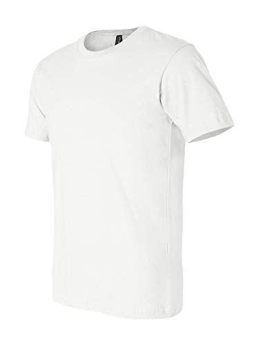 Bella+Canvas 3001 Unisex Jersey Short Sleeve Tee, White, - White Large Jersey Unisex