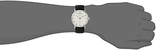 Frederique Constant Men's 'Slim Line' Silver Dial Black Leather Strap Stainless Steel Swiss Automatic Watch  FC-306MC4S36 by Frederique Constant (Image #2)