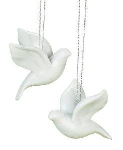 - 2 Piece Friendship Dove Christmas Ornaments in Gift Box
