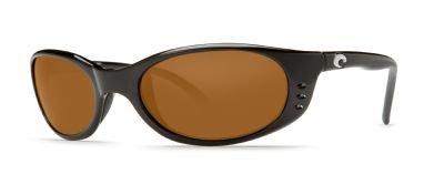 Costa Del Mar Sunglasses - Stringer- Plastic / Frame: Shiny Black Lens: Polarized Amber 580 - Stringer Costa