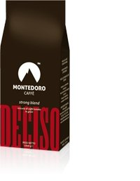 Montedoro Caffe`- Espresso Whole Beans - Coffee Bean Direct Italian Roast - Deciso Strong Blend - 6 x 2.2 lb Bags.Kosher Certified. by MonteDoro Caffe`