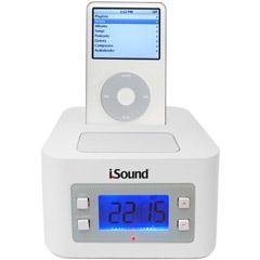 I.Sound White Time Travel Alarm Clock (Sound Time Travel Clock I Alarm)