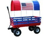 Millside Industries Trekker Wagon with Red and Blue Poly Rac